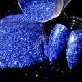 Holographic Nail Glitter Powder Diamond Blue AB Nail Art DIY UV Shimmer Glitter Pigment Manicure Beads 5g N58