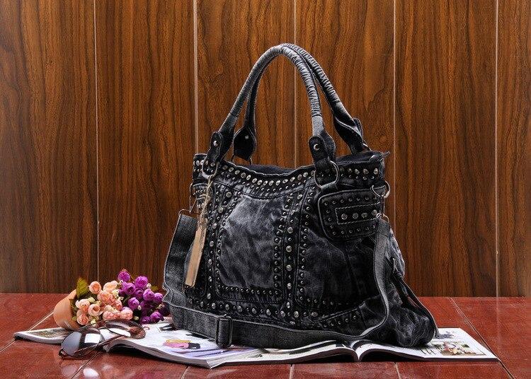 Vintage Design Mode Denim Vrouwen Bag Jeans Schoudertassen Meisjes Handtassen Crossbody Tas Vrouwen Messenger Bags - 2