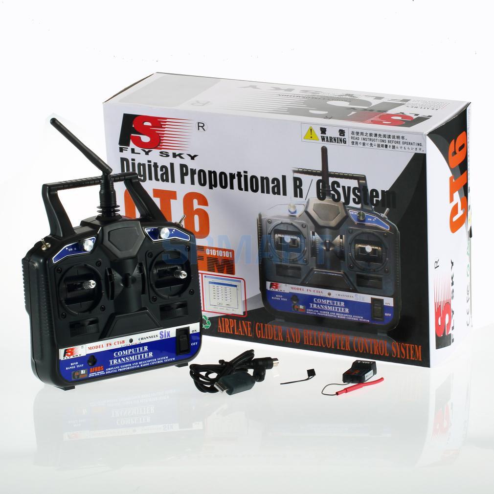 Oyuncaklar ve Hobi Ürünleri'ten Parçalar ve Aksesuarlar'de 2.4G 6 CH Kanal Radyo Modeli RC verici alıcı Kontrol'da  Grup 1