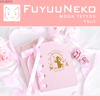 Anime Action Figure Printed PU Sailor Moon Tsukino Usagi Cartoon Notebook With Silk Ribbon Planner Schedule Book Stationery Gift