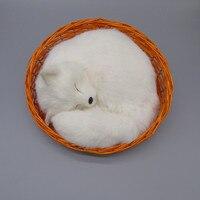 The simulation simulation white fox fur animals Yellow fox home furnishing articles present