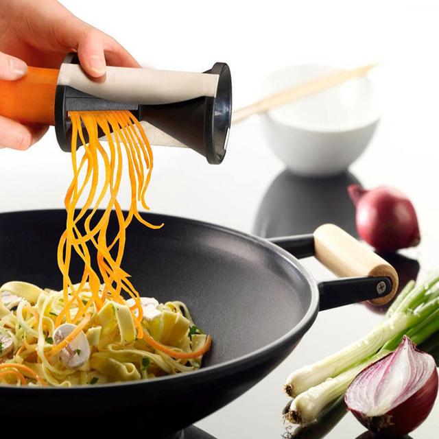 Vegetable Fruit Spiral Shred Process Device Cutter Slicer Peeler Kitchen Tool Slicer spiralizer julienne cutter Vegetable Tool