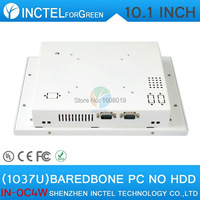 2017 New Product White LED Computer Touch Screen All in one PC with White Color 1037u processor Windows Linux Barebone PC