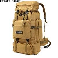 70L Multifunction Waterproof Mountaineering Backpacks Large Capacity Male Luggage Shoulder Bag Wear Resisting Travel Bag