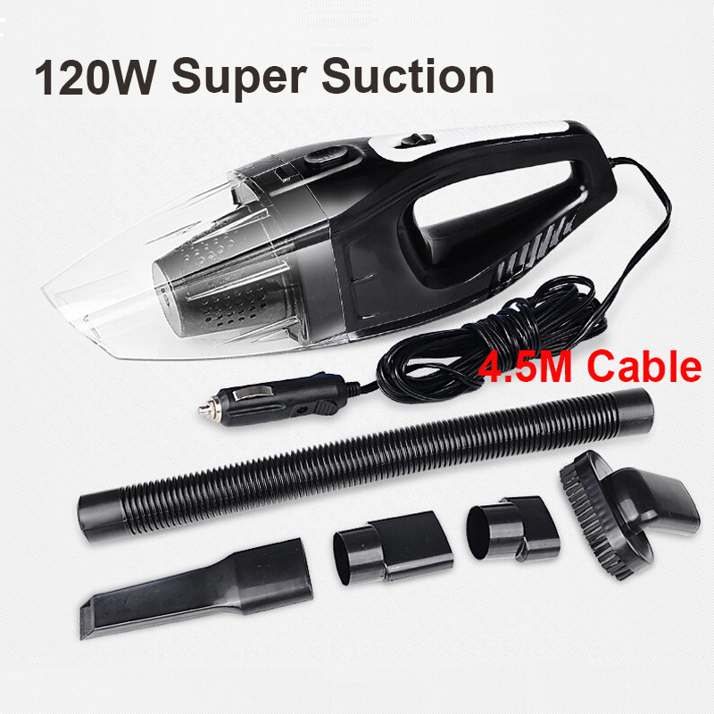 Auto Electronics Portable 120W 12V Car Vacuum Cleaner Handheld Mini Super Suction Wet And Dry Dual Use Vaccum Cleaner For Car