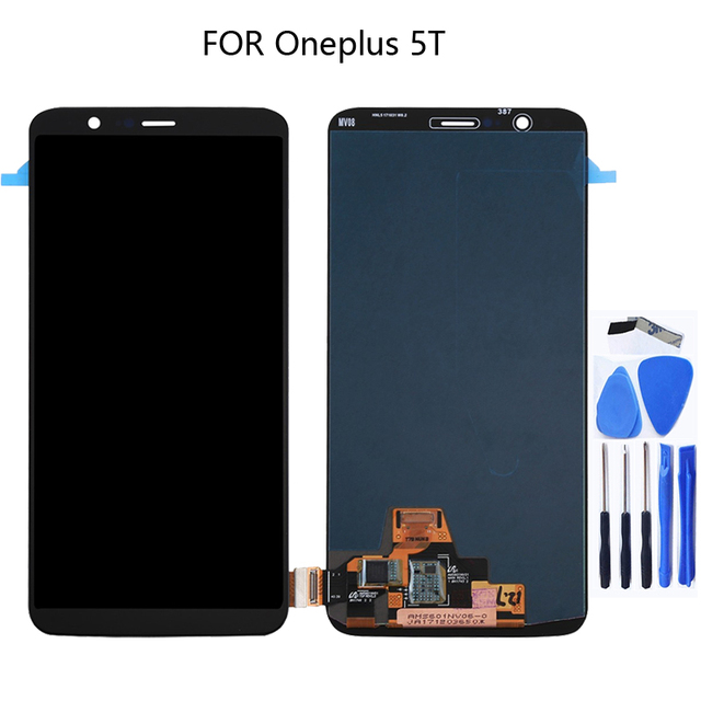 AMOLED A5010 LCD for Oneplus 5T LCD 6.01 inch display touch screen digitizer component replacement parts with frame + tool