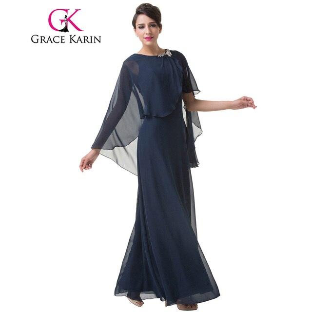 b62855485 Grace karin vestido de noche estilo del cabo de la gasa largo vestido de  noche formal