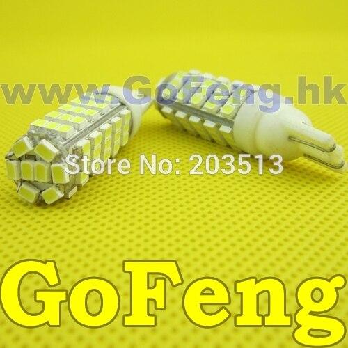 100pcs/Lot car led light bulbs lamp W5W 194 68SMD 1206 T10 68 leds smd 3020 FREE SHIPPING