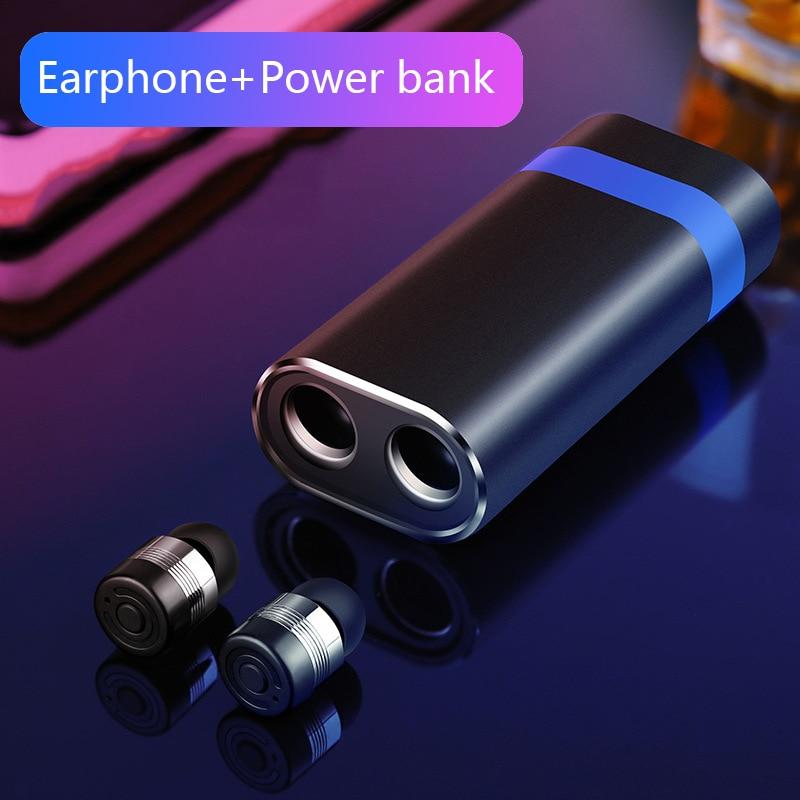 Neue Bluetooth V5.0 Headset Hifi Stereo Sound Qualität Ohrhörer Automatische Verbindung Kopfhörer TWS Mini Wireless Bluetooth Kopfhörer
