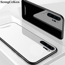 SemgCeKen luxury original hard glass mirror case for huawei p30 lite pro p30pro p30lite silicone silicon back coque phone cover
