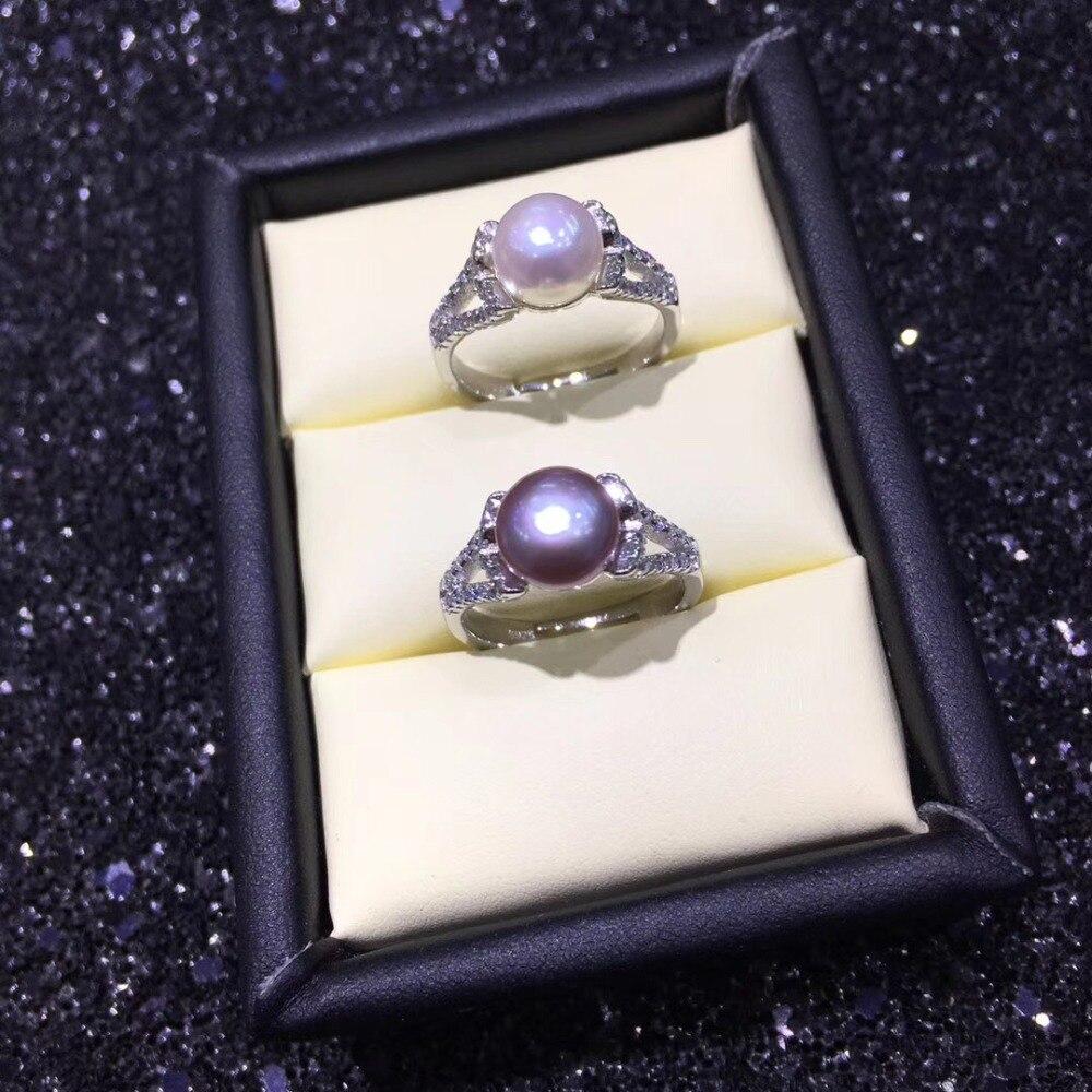Montures d'anneau de perle de mode, trouvailles d'anneau, pièces réglables de réglage de bijoux d'anneau garnitures bijoux en argent de breloques-in Bijoux et composants from Bijoux et Accessoires    1