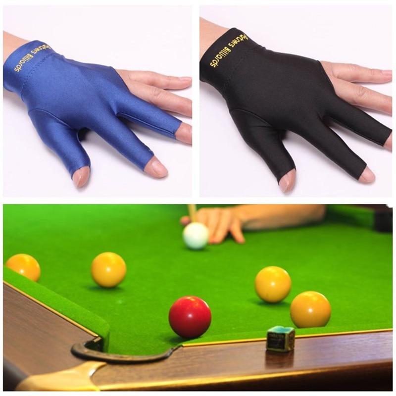 2 шт. левой три пальца перчатки снукер бильярдный кий перчатки спандекс бассейн Фитнес развлечения аксессуары P15