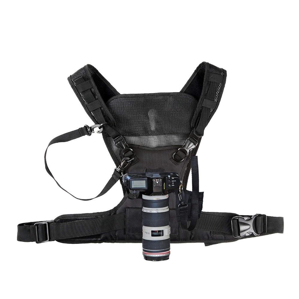 Nicama Camera Carrying Chest Harness Vest with Secure Straps for 1 camera Canon Nikon Sony Panasonic DSLR Cameras arnes para camaras fotograficas