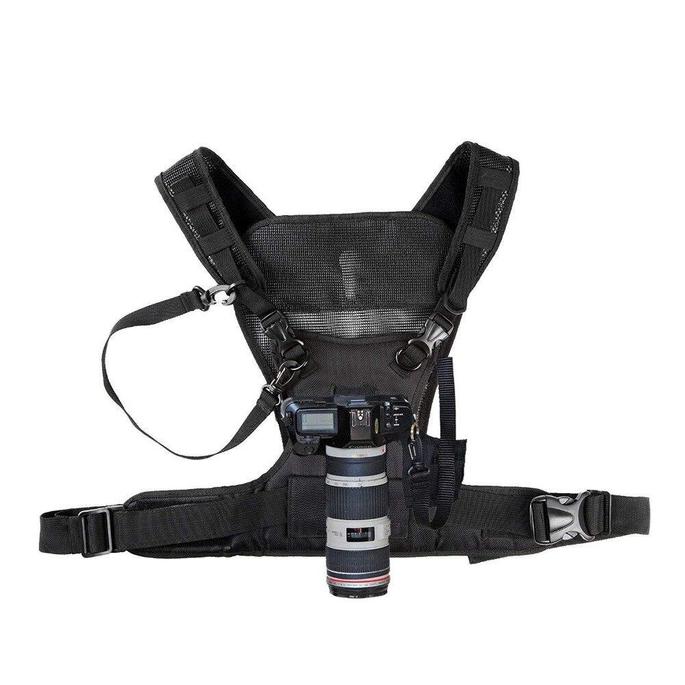 Câmera Carregando Nicama Chest Harness Vest com Cintas Seguro para 1 câmera Canon Nikon Sony Panasonic DSLR Câmeras