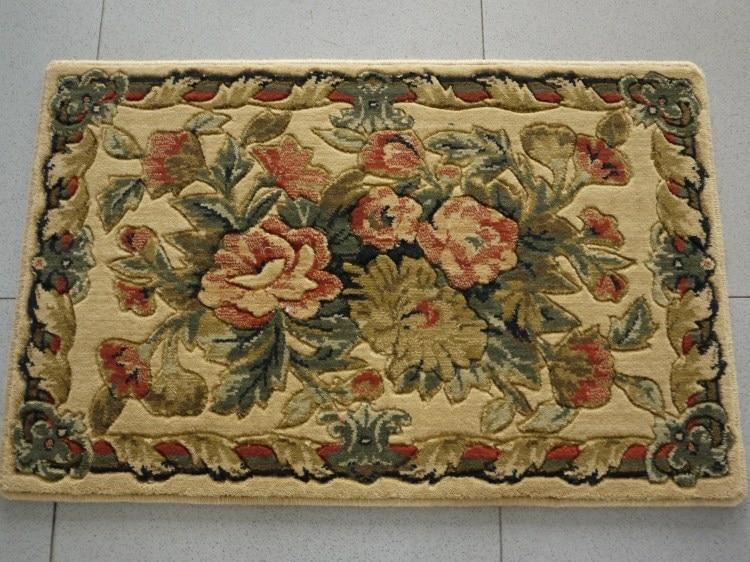 Rustic Pure Wool Doormat Carpet Bath Slip Resistant