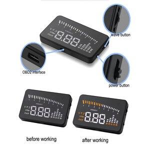 Image 4 - X5 Car Hud Head Up OBD 2 Display Digital Speedometer Overspeed Alarm Auto Windshield Projector OBD ii Car Electronics