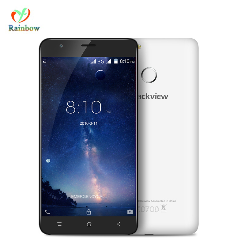 bilder für Blackview E7S Smartphone MT6580 Quad Core 2 GB 16 GB 1280x720 Handy Android 6.0 Fingerprint 8.0MP Entsperrt Telefon 5,5 zoll
