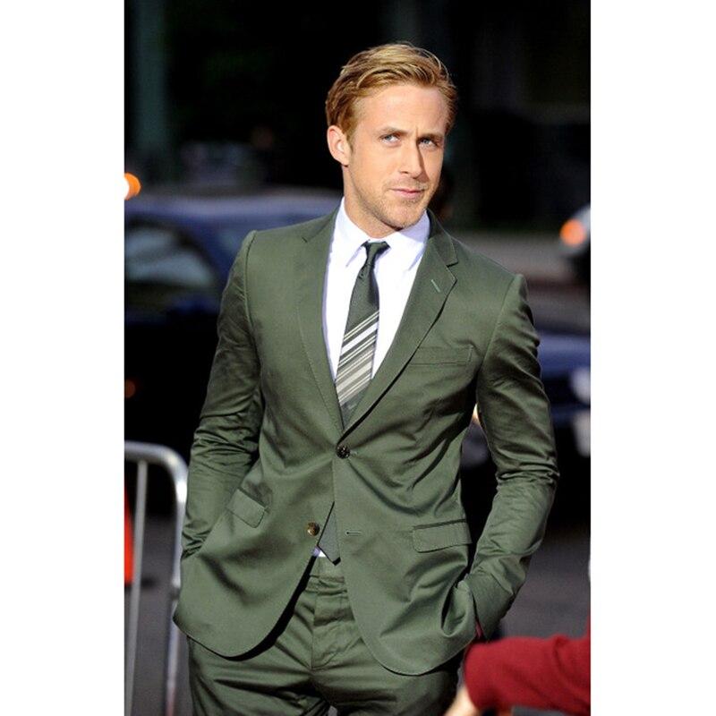 Classique conception vert marié robe terno masculino 2017 meilleur homme deux bouton fossé de revers meilleur de mariage hommes costume (manteau + pantalon + cravate)
