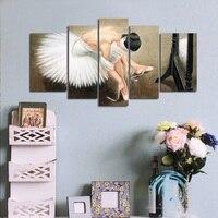 5pcs Ballet girl 5D DIY Diamond Painting Cross Stitch Full Drill Resin diamond embroidery Mosaic Home Decor Y1655