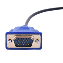 HD Resolution HDMI to VGA 15pin Display Output Audio Cable Male to Male Video Cable Converter Fast Transfer 1.8m Length