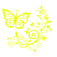 Butterfly Flower Car-Styling Vehicle Body Window Reflective Decals Sticker Decor 5