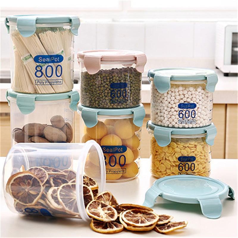 Multifungsi Kotak Plastik Transparan Disegel Kaleng Kotak Penyimpanan - Organisasi dan penyimpanan di rumah