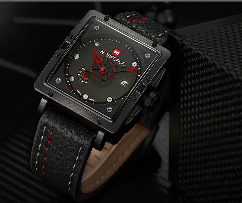 Image 4 - Naviforce Watches Men Brand Luxury Leather Quartz Men Watch Fashion Casual Military Sport Male Date Wristwatches Luminous Clock-in Quartz Watches from Watches