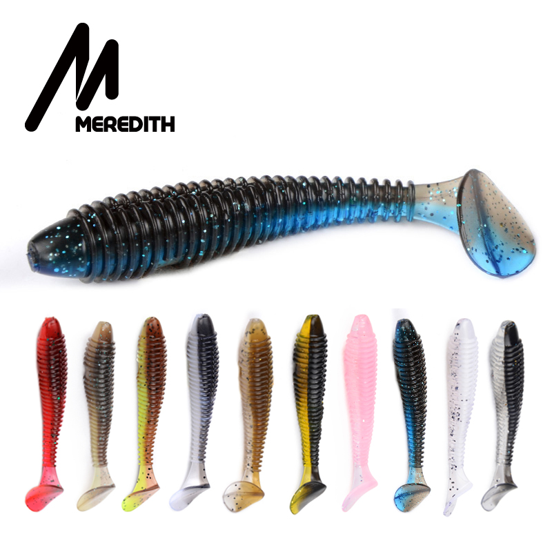 MEREDITH Fishing Soft <font><b>Lures</b></font> Shad Swing Impact Fat Vibro Fat Soft Bait 75mm 85mm <font><b>180mm</b></font> Tackle Lifelike Iscas Wobbler PVA Fishing image