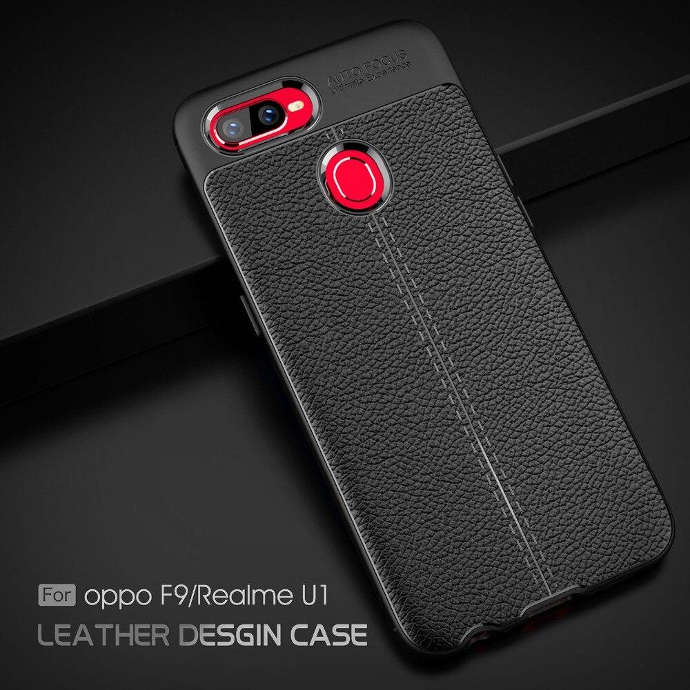 For OPPO Realme U1 Case for OPPO Realme U1 Cover Litchi Pattern Silicone TPU Back Cover Soft Phone Case On OPPO Realme U1 Capa