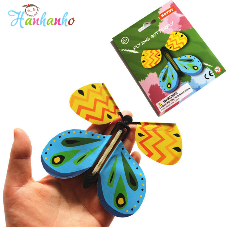 Exclusive magic flying butterfly easy to do magic tricks props toys for children surprising gift