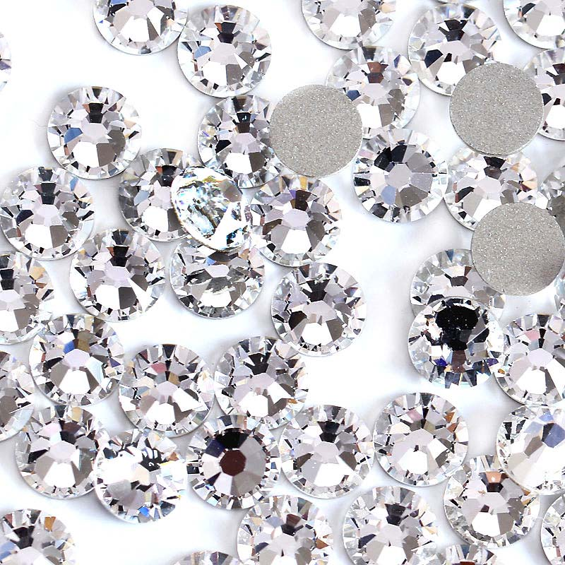Sample 2058HF SS16 SS20 SS30 Glass AB Hot Fix Rhinestones Crystals Flatback Strass Iron Rhinestone For Clothes Motif Clothing