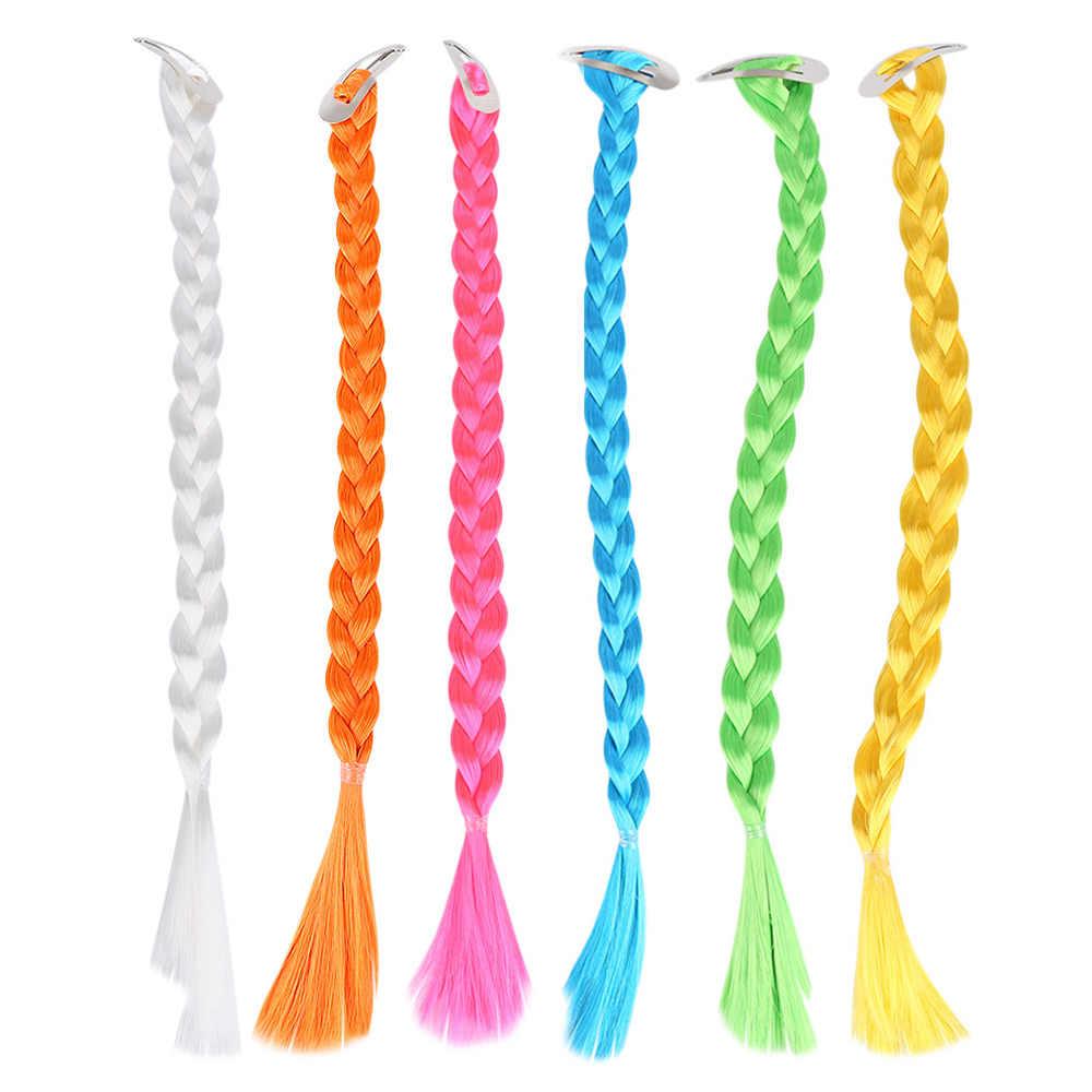 Нейлоновые шиньоны с косичками для волос, цветные вечерние заколки для волос, несколько цветов
