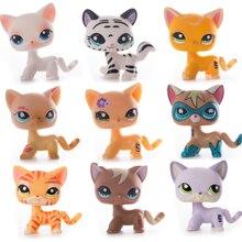 Juguete Original de la tienda de mascotas Lps envío gratis barco Cocker español Gran Dane Tiger Cat Lps figura de acción de juguete para regalo de niños raro