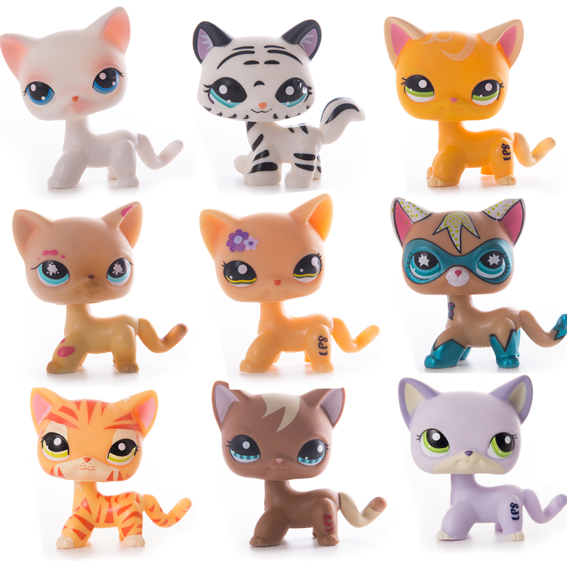 Original Lps Pet Shop Toy Free Shipping Shorthair Cocker Spaniel Great Dane Tiger Cat Lps Action Figure Toy For Child Gift Rare