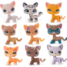 Original Lps Pet Shop Toy Free Shipping Shorthair Cocker Spaniel Great Dane Tiger Cat Action figure for Child Gift Rare