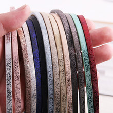5 Root 1Meter x 5mm Flat PU Leather Cord & Rope Diy Jewelry Findings Accessories Fashion Jewelry Making Materials for Bracelet(China)