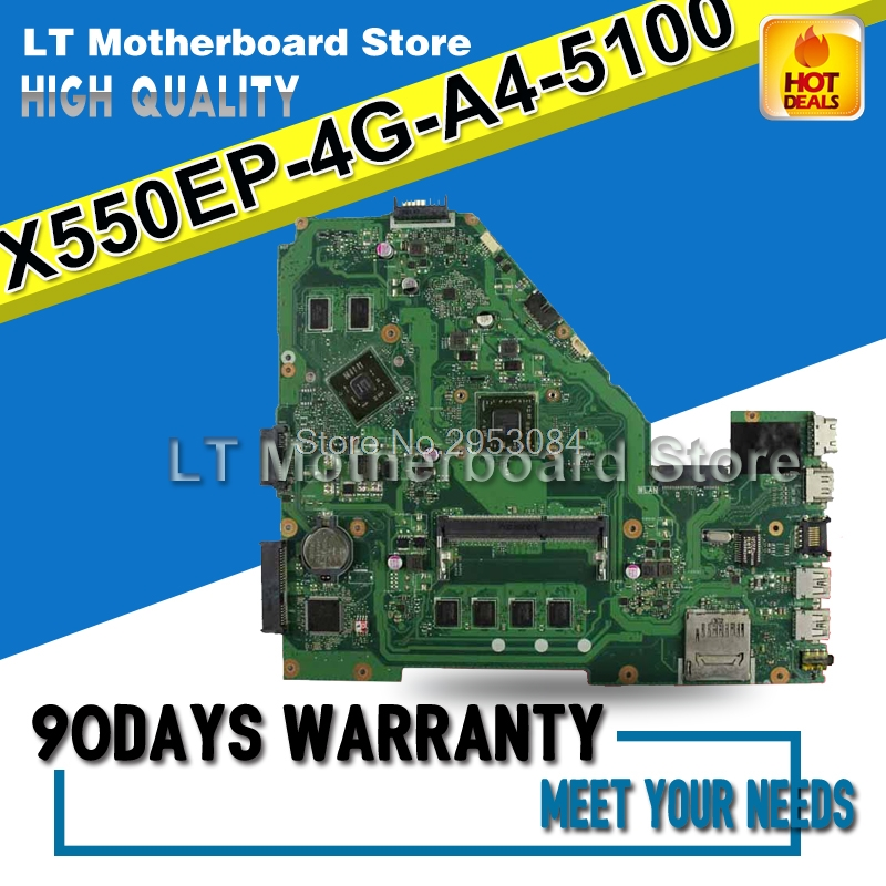 все цены на X550EP Motherboard 4G-A4-5100 For ASUS F552E X552E A552E X550E X552EP Laptop motherboard X550EP Mainboard X550EP Motherboard онлайн