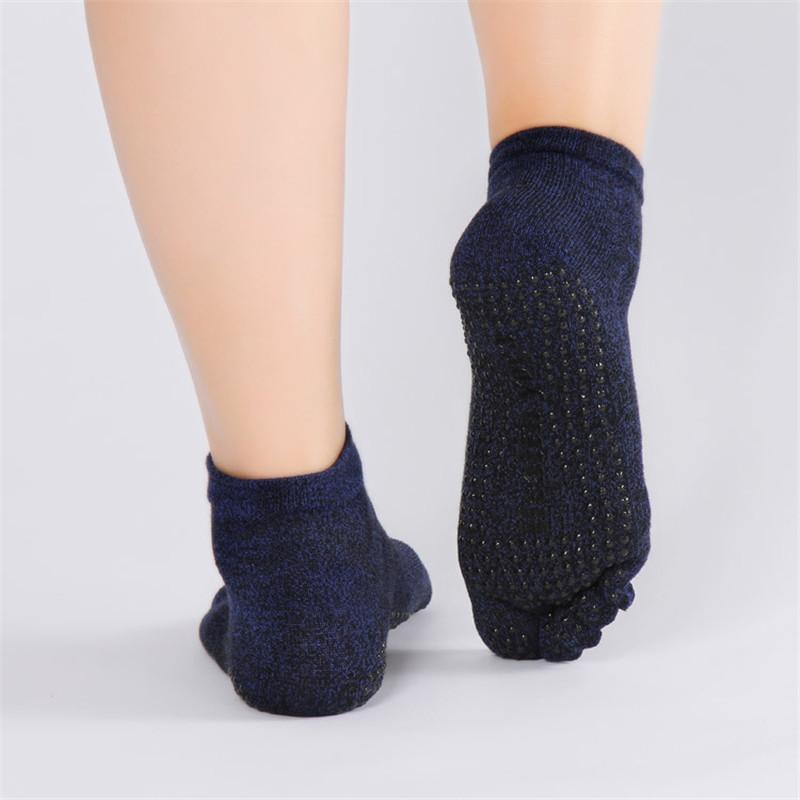 Pure-Cotton-Men-s-Yoga-socks-Non-Slip-Skid-Absorb-Sweat-Breathable-5-Toe-Grips-Pilates (5)