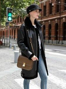Image 4 - OFTBUY réel manteau de fourrure veste dhiver femmes Double face fourrure en cuir véritable manteau naturel fourrure de mouton épais chaud Streetwear vêtements dextérieur