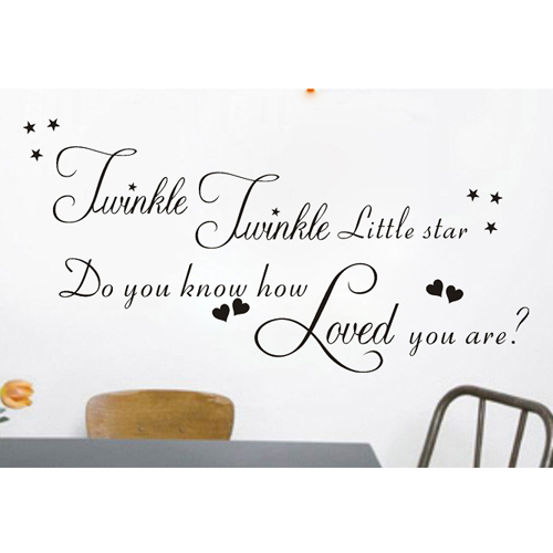 Twinkle Twinkle Little Star Quotes Wall Kids Rhyme Decals Art Home