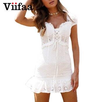 Mini vestido blanco corto