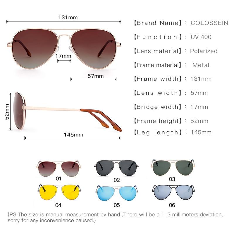 COLOSSEIN Gafas de Sol Piloto Hombres Mujeres Vintage Lente Oval - Accesorios para la ropa - foto 4
