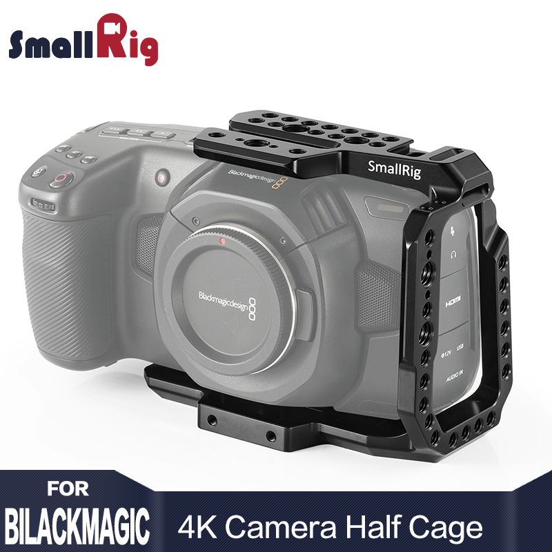 SmallRig BMPCC 4K Camera Cage Half Cage for Blackmagic Design Pocket Cinema Camera 4K Feature with
