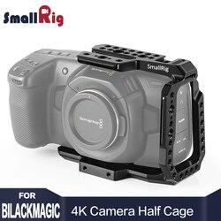 SmallRig BMPCC 4K Camera Cage Half Cage for Blackmagic Design Pocket Cinema Camera 4K Feature with Nato rail CVB2254