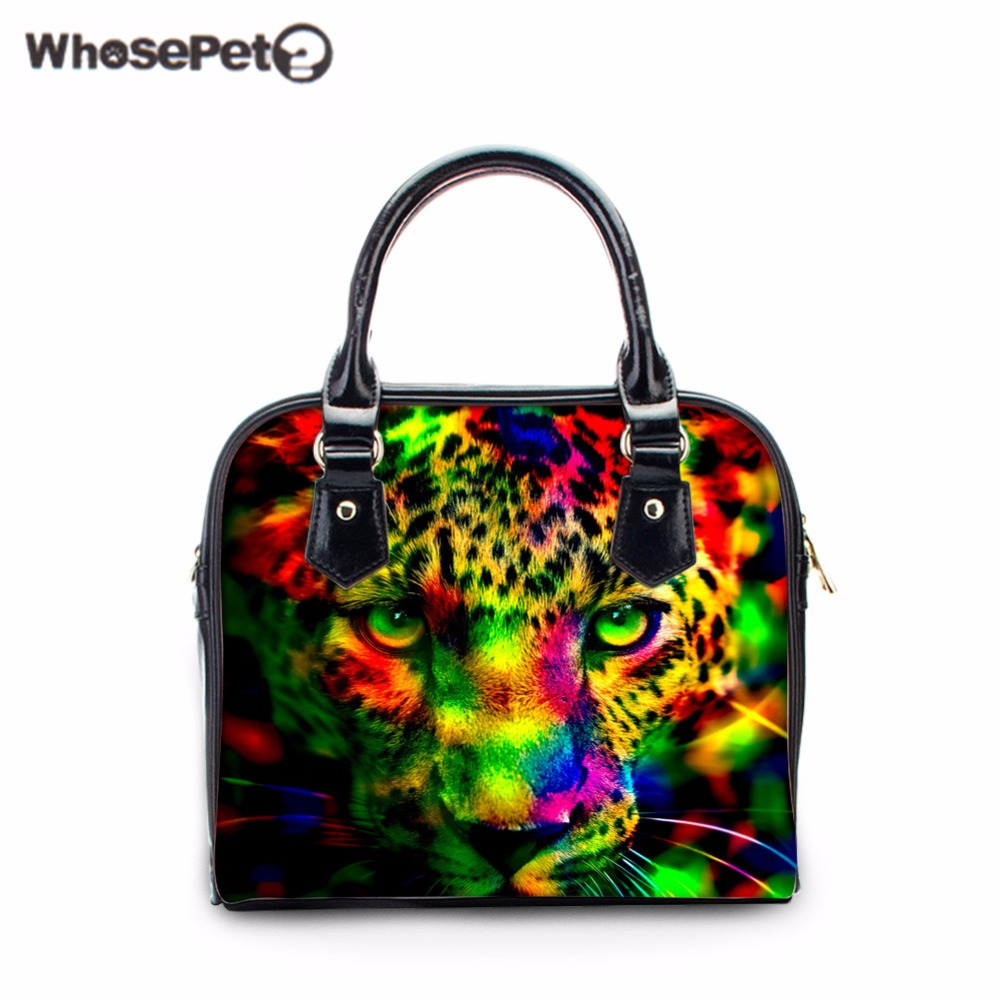 WHOSEPET New Women Handbags Female Crossbody Shoulder Bags Mini Clutch Purse Bag Fashion Ladies Totes Animal Printing Bowler Bag crossbody bowler bag