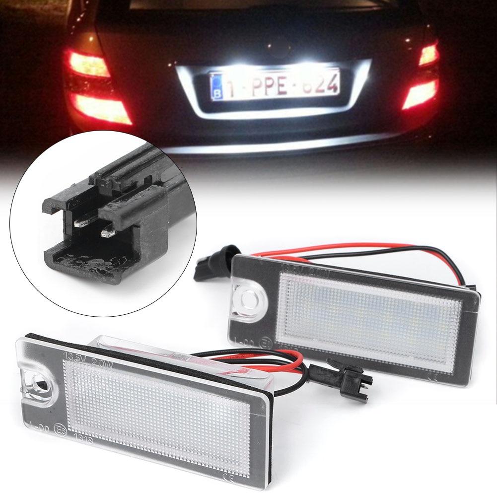 2x 18 LED License Plate Number Lights Car Lamp For Volvo V70 CX70 S60 S80 XC90