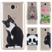 Claro macio tpu silicone case sfor coque huawei y5 ii/y6 ii compact/honor 5a lyo-l21 case capa para huawei y5 ii telefone panda case