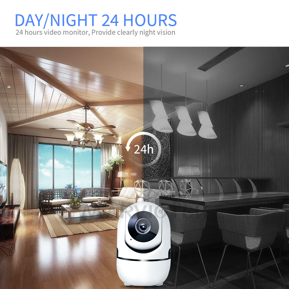 Image 5 - 1080P Full HD Wireless IP Camera Wifi IP CCTV Camera Wifi Mini Network Video Surveillance Auto Tracking Camera IR Night Vision-in Surveillance Cameras from Security & Protection