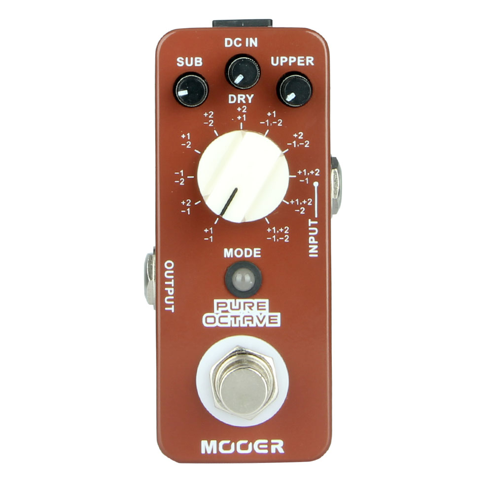 mooer pure octave octave pedal 11 different octave modes true bypass free shipping in guitar. Black Bedroom Furniture Sets. Home Design Ideas