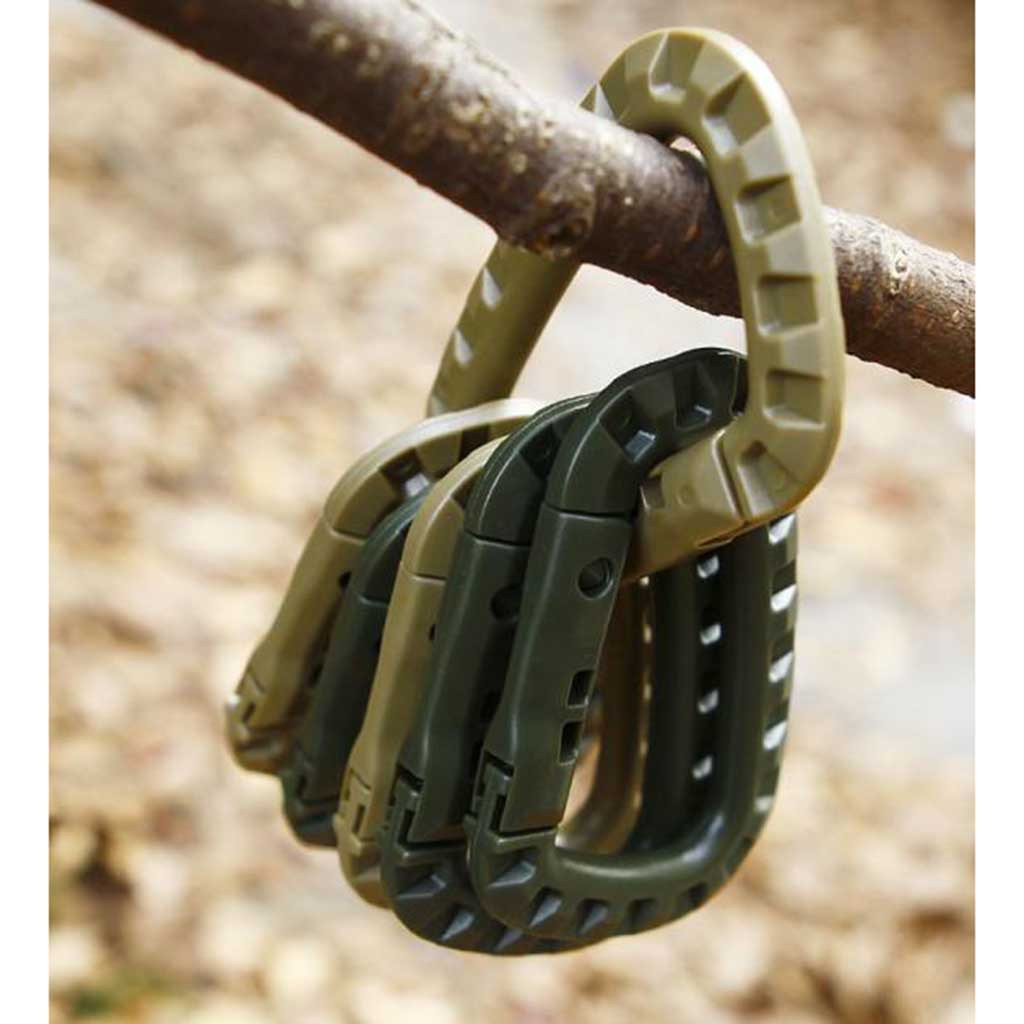 Ring Mountaineering Carabiner With Alloy Lock Outdoor Safety Buckle Climbing Tactical Shackle Manille Tactique